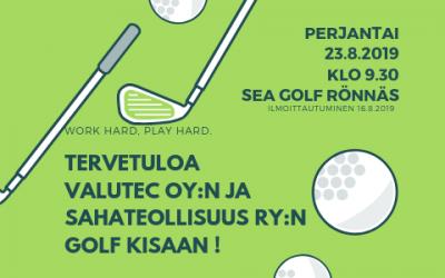 Valutec Oy:n ja Sahateollisuus ry:n Golf-kisa 23.8.2019