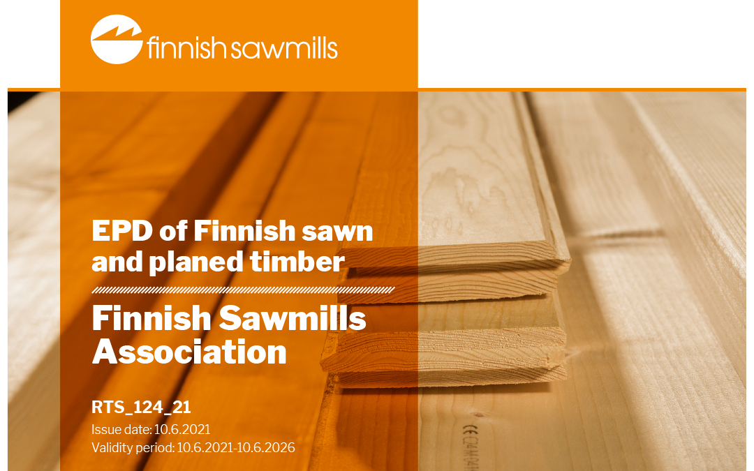 Environmental product declaration of sawn goods has been completed